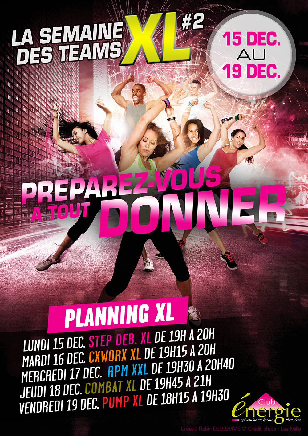 Club Energie Fitness Orleans Affiche Semaine Team XL 2 Les Mills