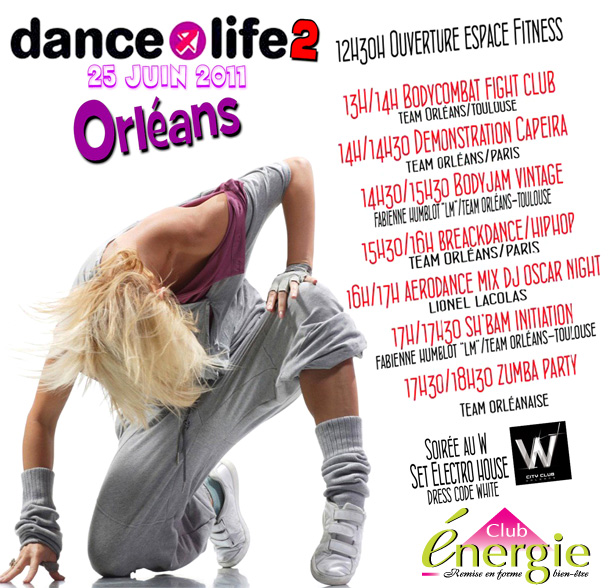 affiche dance for life 2 - dance4life - club energie - orléans