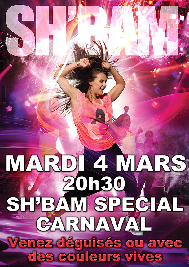sh bam special carnaval orleans club energie les mills cours collectifs fitness