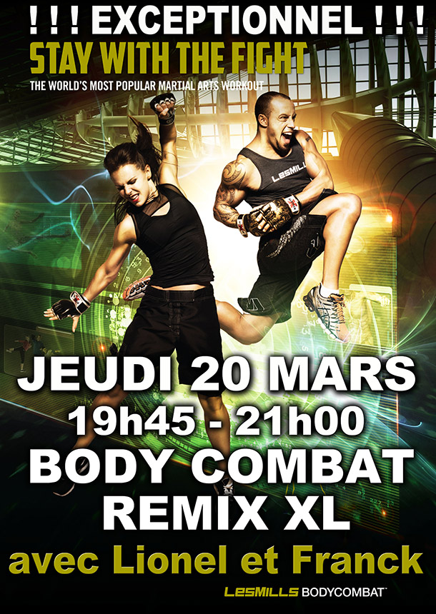 bodycombat remix xl orleans club energie les mills cours collectifs fitness