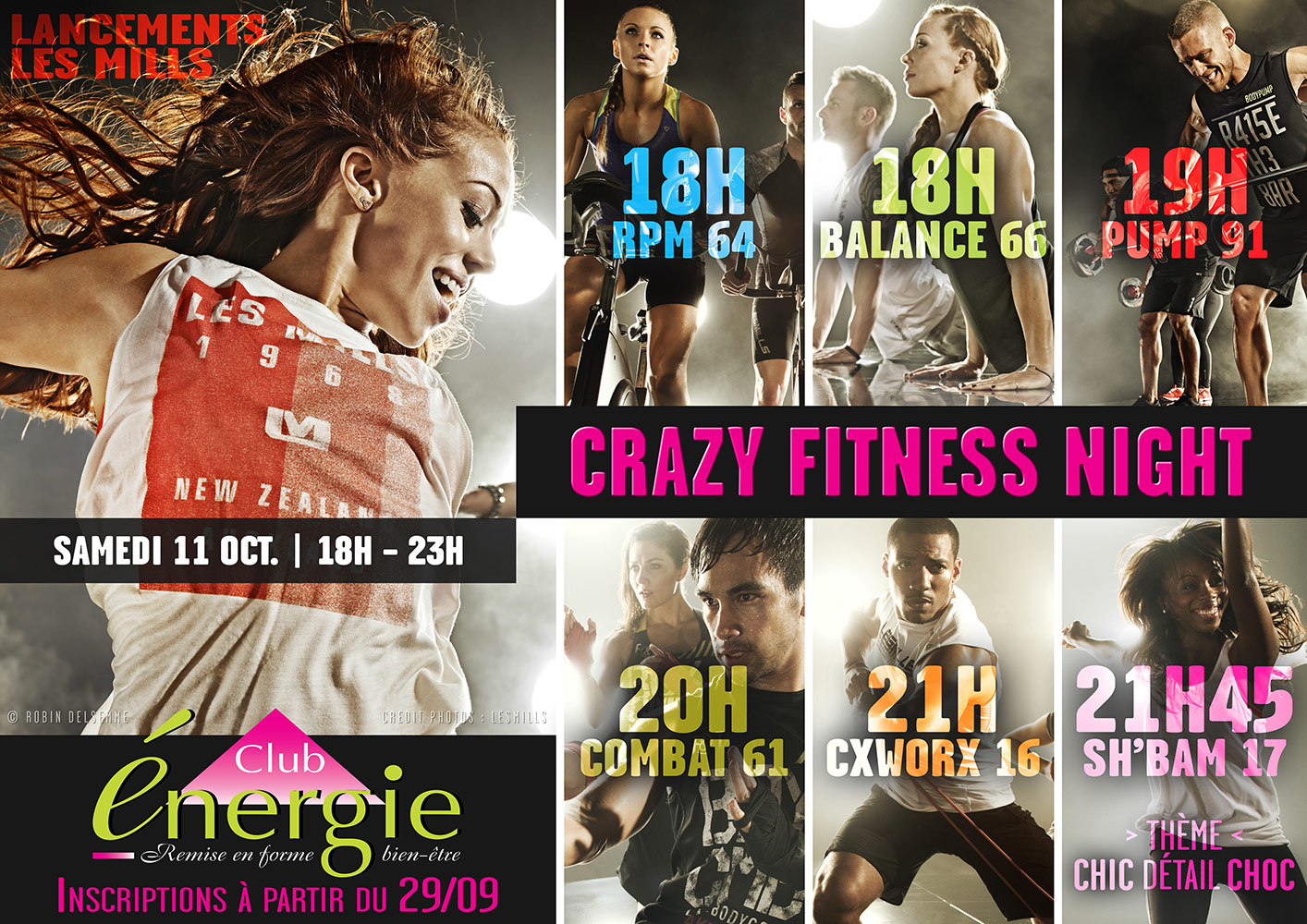 Affiche Crazy Fitness Night Lancements Les Mills Octobre 2014 club energie fitness orleans