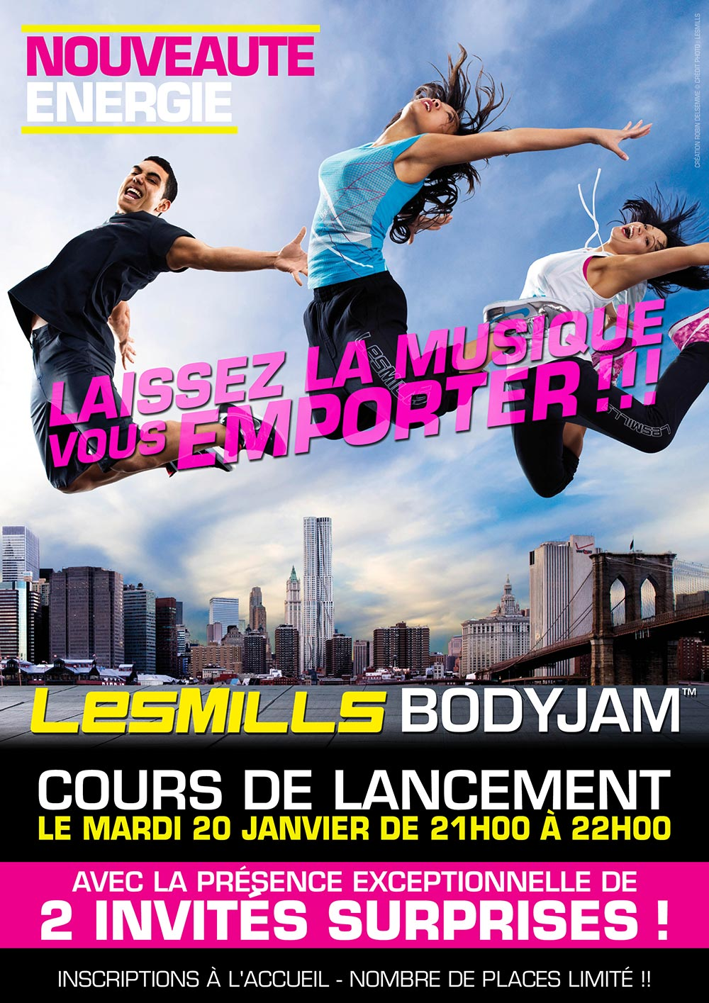 Club Energie Fitness Orleans Affiche Lancement Bodyjam by LesMills