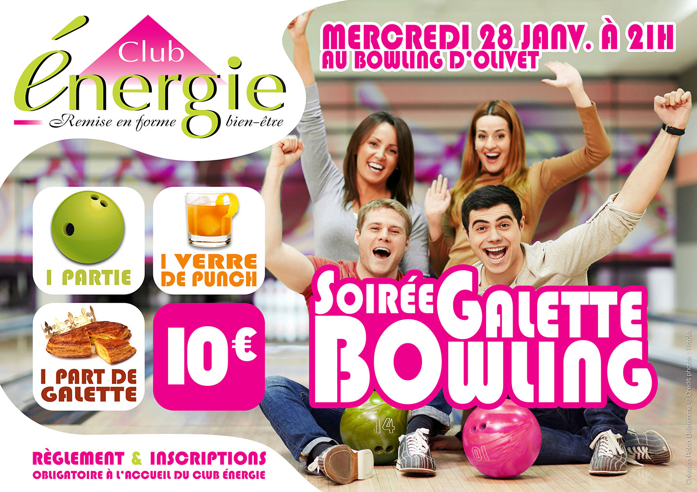club energie fitness orleans soiree galette bowling olivet