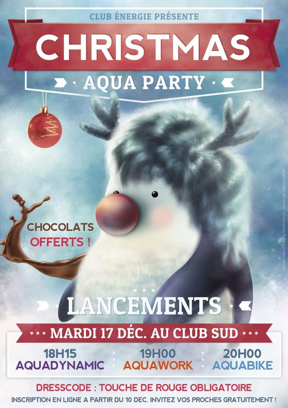 Le Christmas Aqua Party du Club Energie Orleans