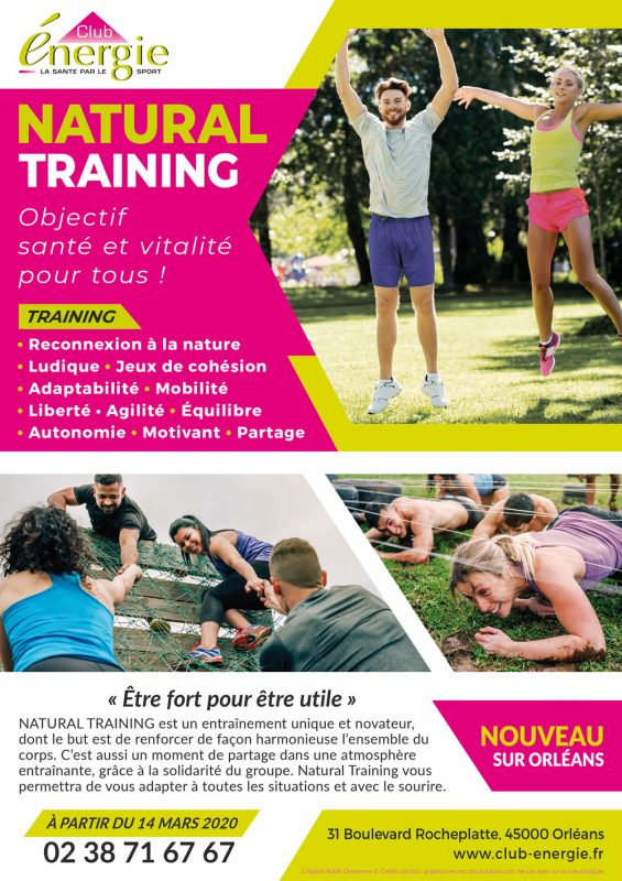Flyer Natural Training Club Energie Orleans