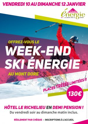 Le Week End Ski du Club Energie Orléans
